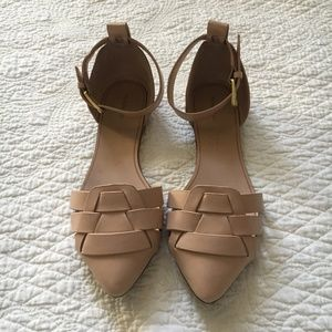 Zara Vamp Jelly Shoe Sandal 6.5 Nude/Tan